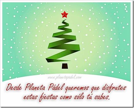 Tarjeta Navidad Planeta Pádel 2015 Rafa Guerrero