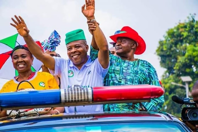 #ImoDecides HISTORY MADE! Celebration in Owerri as PDP's Ihedioha wins Imo Guber poll