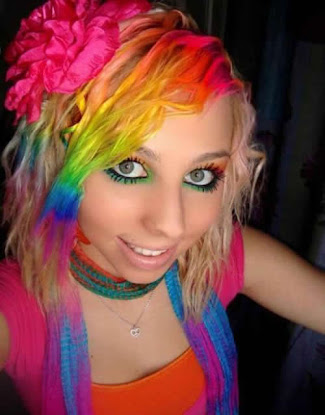 rainbow hair color 6