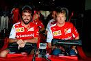 Fernando Alonso & Kimi Raikkonen in Ferrari rollercoaster