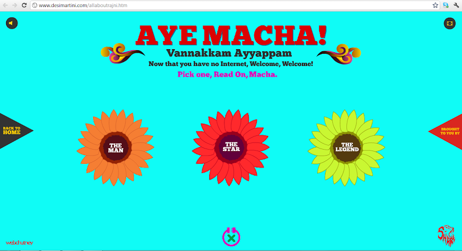 Rajnikanth's website doesnt need internet