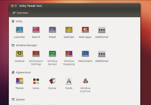 Unity Tweak Tool su Ubuntu