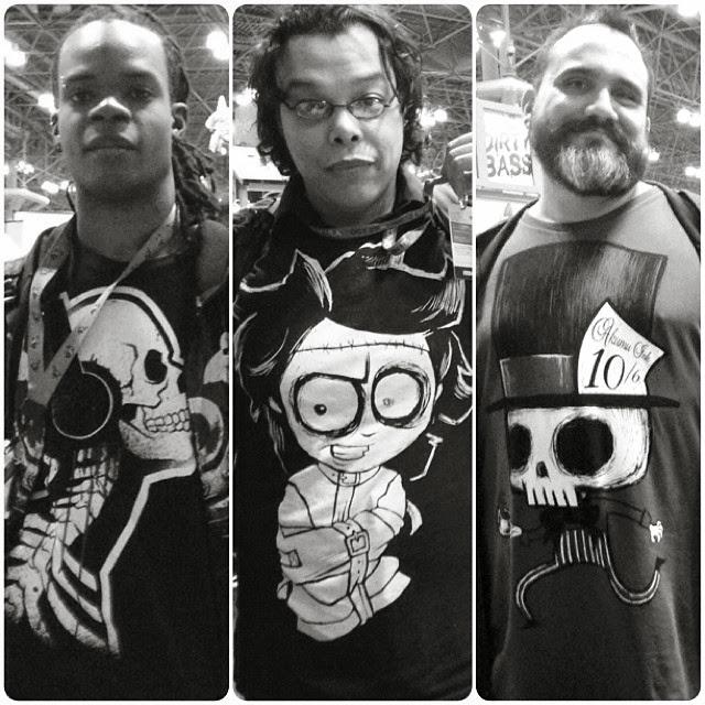 nycc shirts, akumuink, comiccon tshirt, comiccon skull, skull tshirt, mad hatter tshirt, nycc tshirt, new york comicon shirt, straight jacket shirt, skull headphone tshirt