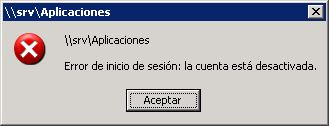 Escenario de trabajo, equipo con Windows XP y acceso a recursos compartidos de red