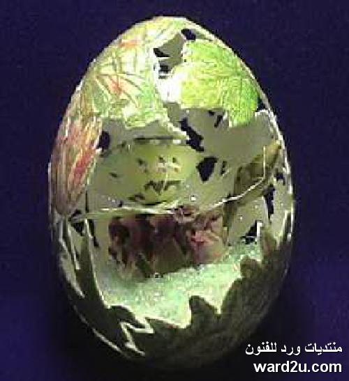 فنون البيض فى شم النسيم