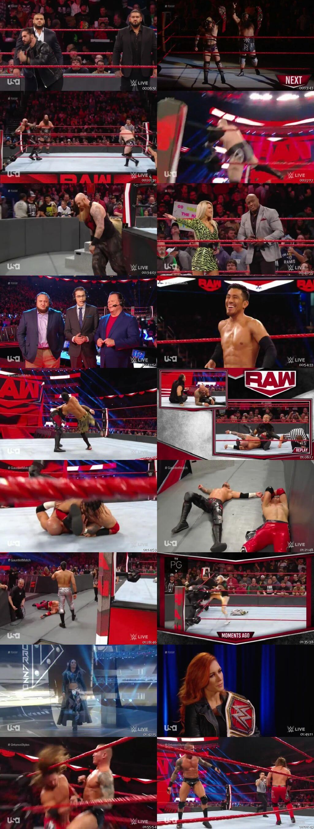 Screen Shot Of Wrestling TV Show WWE Monday Night Raw 16th December Watch Online Free Download