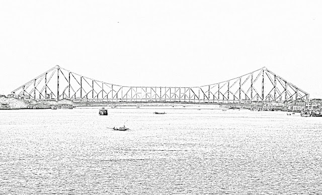 howrah bridge sketch