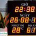 Các mẫu đồng hồ đo nhiệt độ độ ẩm led treo tường