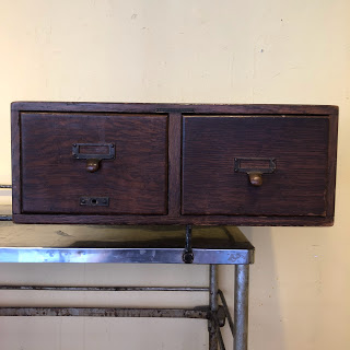 Two Drawer Oak Library Bureau Cabinet