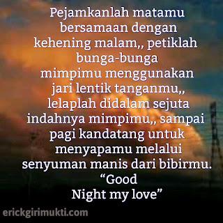 kata kata ucapan selamat malam
