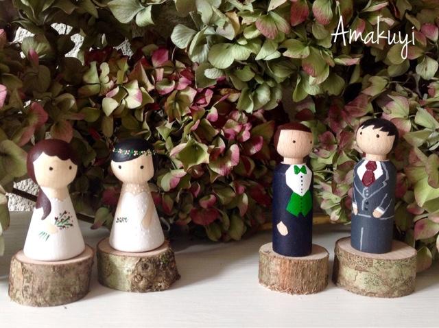 Peg-dolls-comunión-boda-madera-handmade-amakuyi
