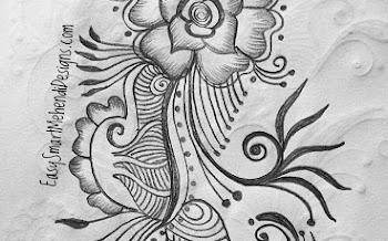 Beautiful Flower leaf mix Tattoo design