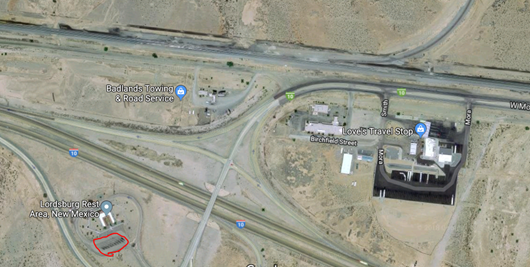Google Map, Satellite view, Lordsburg New Mexico Welcome Center