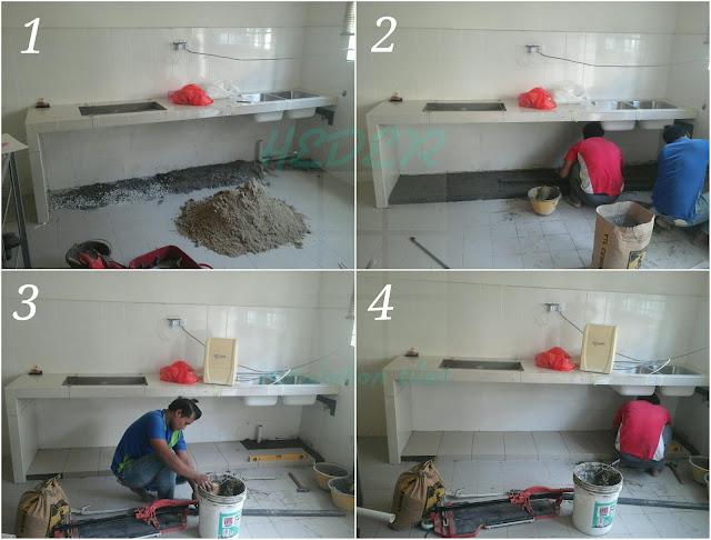 Kitchen table top concrete meja dapur konkrit panjang 9