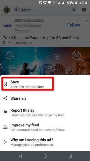 Find Saved Posts On LinkedIn Mobile