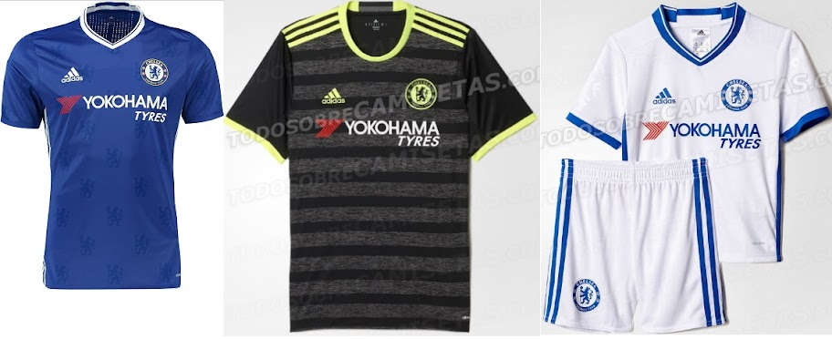 New Chelsea 2016 17 Away Third Kits Officially Release
