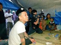 Gruop band punk legendaris Indonesia MARJINAL datang ke tenda perjuangan