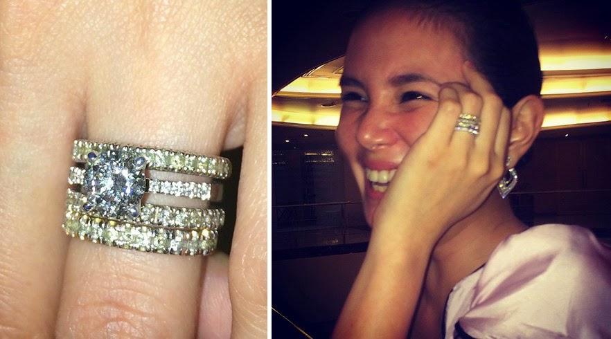 Isabel Oli engagement ring