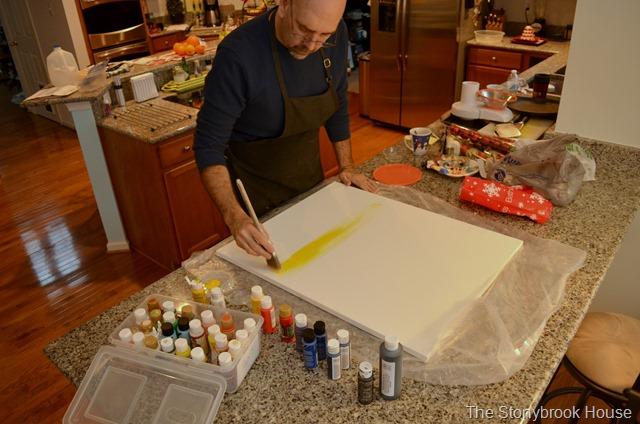 Beginning to Paint Yellow