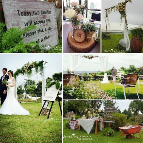 嘉義戶外證婚推薦|戶外證婚|西式婚禮|西式證婚|木頭拱門|木頭花藝拱門|憶起幸福