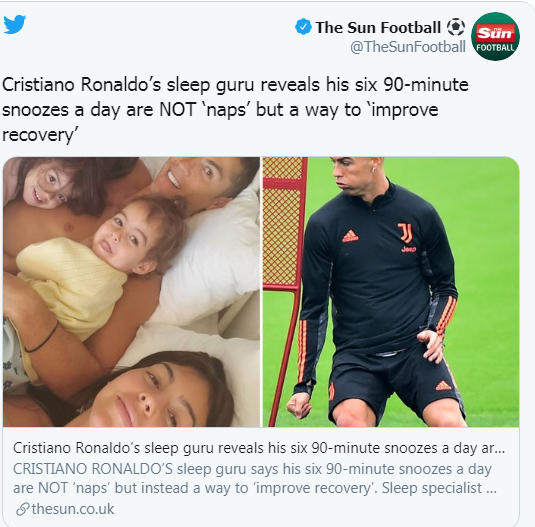 Disclosure of Ronaldo's sleep method ... and the secret of his activity