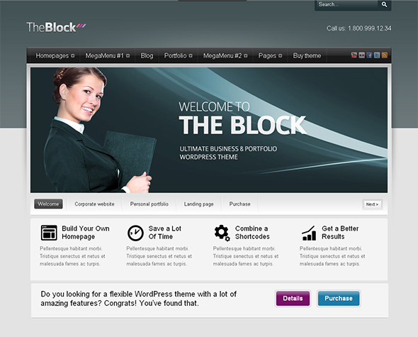 The Block Flexible WordPress Theme