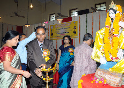 Inauguration Ceremony - Dr. Chandel lighting a deepak