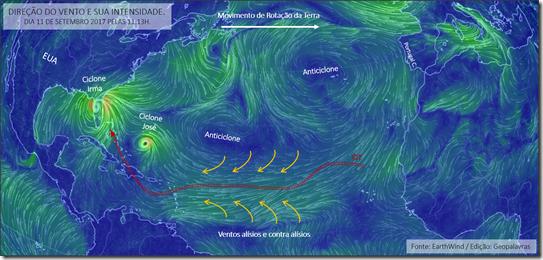 Ciclones em 11 de setembro de 2017