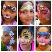 Photo: Some of Bibi the Clown's face painting, Riverside, Ca. Call to book Bibi today: 888-750-7024