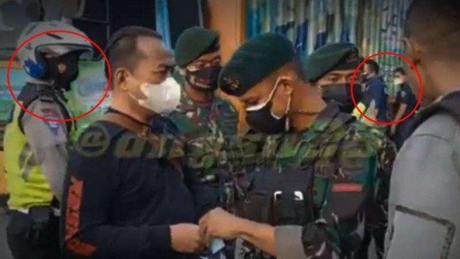 Peristiwa Aneh saat Polisi Arogan PPKM Lihat Isi Dompet Paspampres TNI