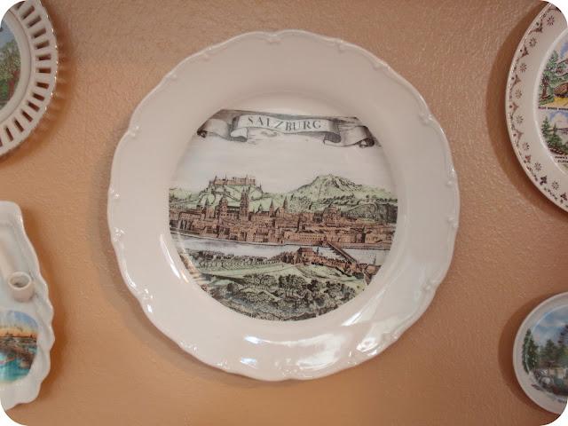 salzburg vintage souvenir plate