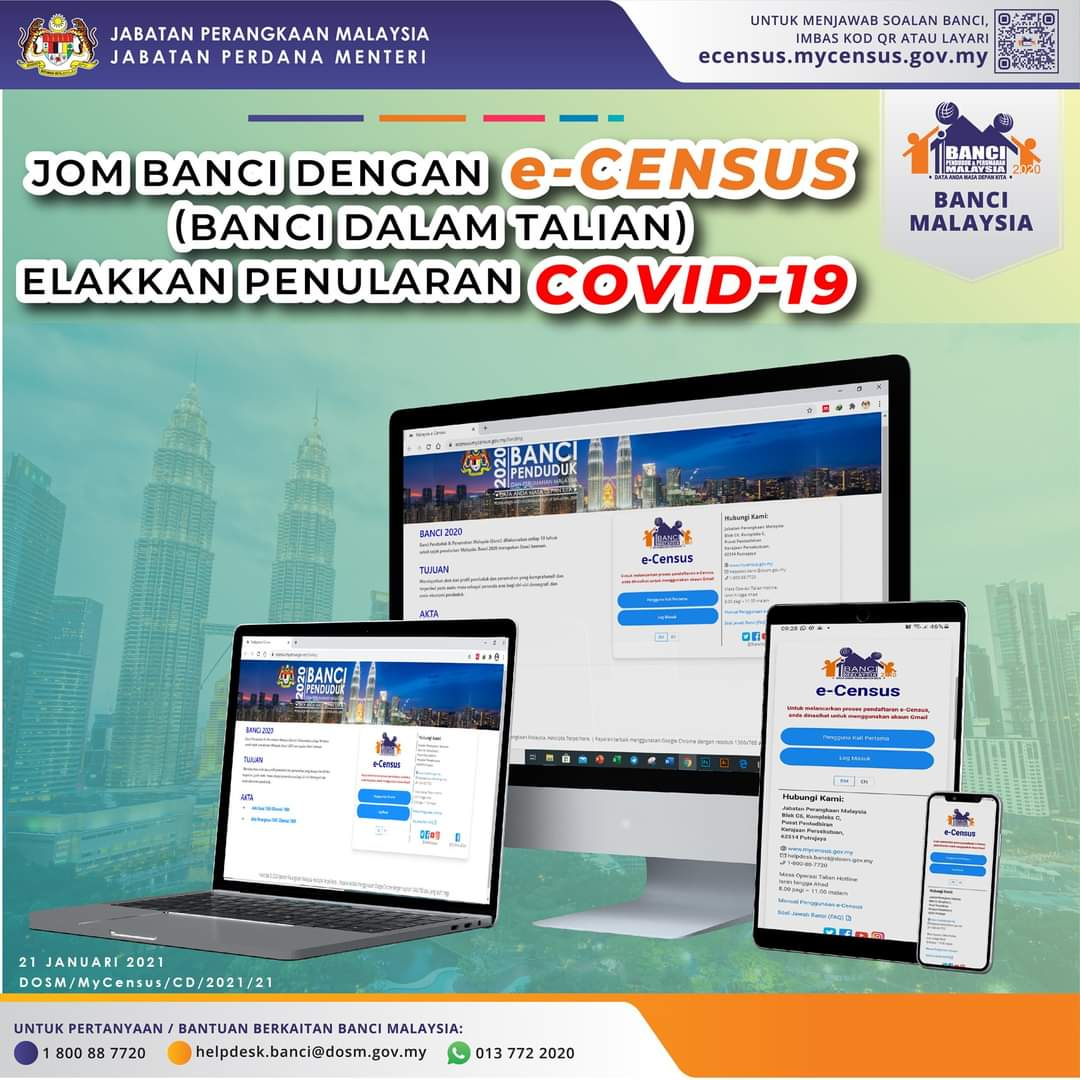 MCO 2.0: Restructure of the Malaysia Census 2020