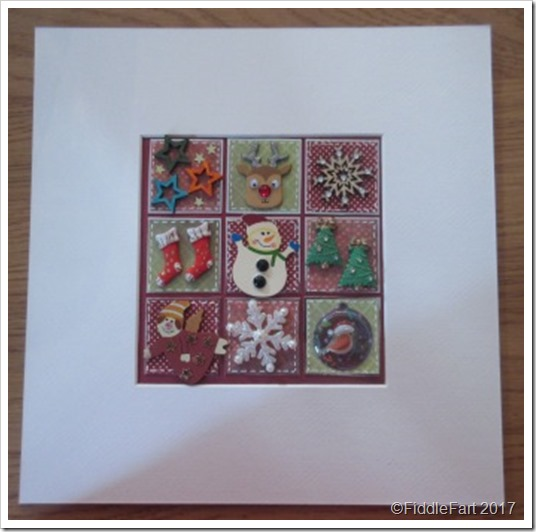 CHristmas Patchwork Box FRame 6