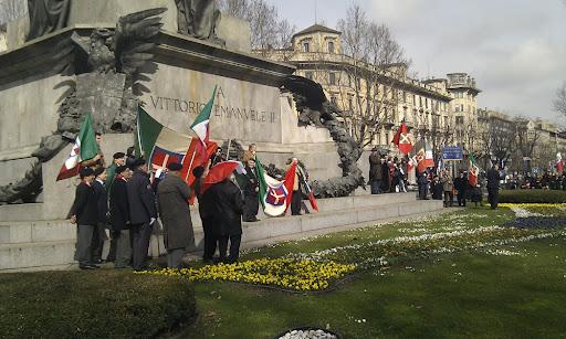 Manifestazione dei Monarchici a Torino per il 150° anniversario della proclamazione del Regno d'Italia