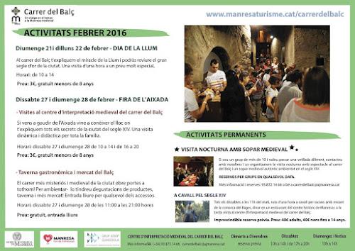 Mercat del Balç, Carrer Medieval del Balç, Fira de l'Aixada, Manresa