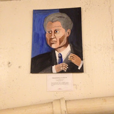 President Clinton portrait at the Museum of Bad Art