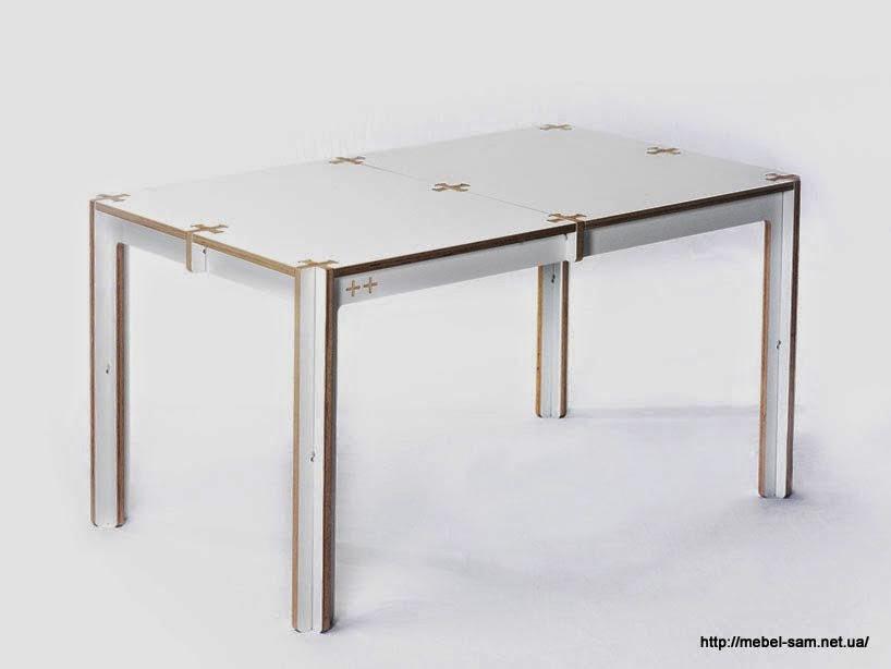 Фанерный стол на шесть человек