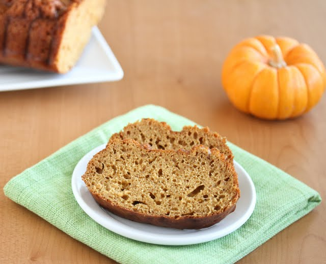 photo of slices of pumpkin bread on a plate