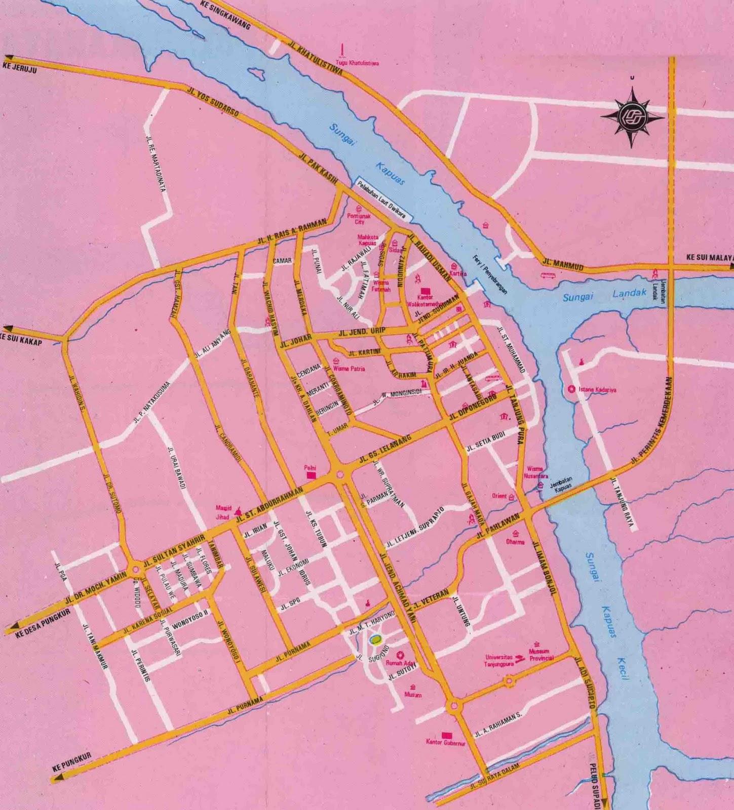 Berikut beberapa gambar peta kota Pontianak. klik gambar untuk ...