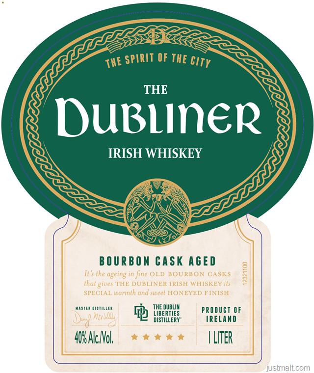 The Dubliner Irish Whiskey Bourbon Cask Aged