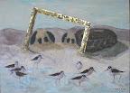181 - Salt Pond - 2007 100 x 73 - Technique mixte et aquarelle sur toile