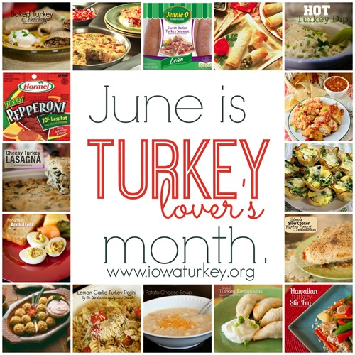 turkey lover's month collage