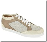 Jimmy Choo leather and glitter trainers