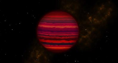 ilustração de WISE 0855, no infravermelho