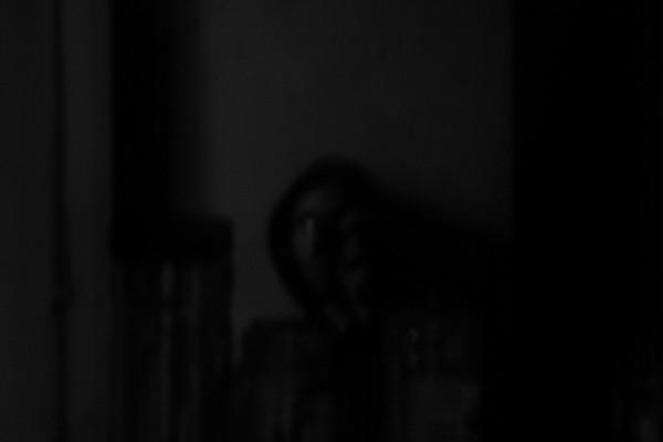 mirror in the dark..