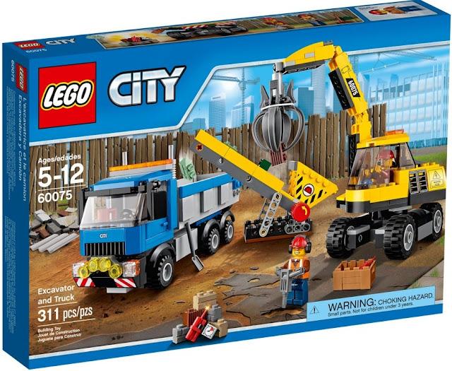 Đồ chơi xếp hình Lego City 60075 Excavator and Truck