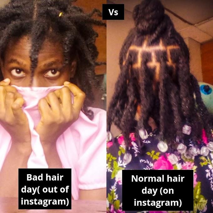 NATURAL HAIR: REALITY VS SOCIAL MEDIA