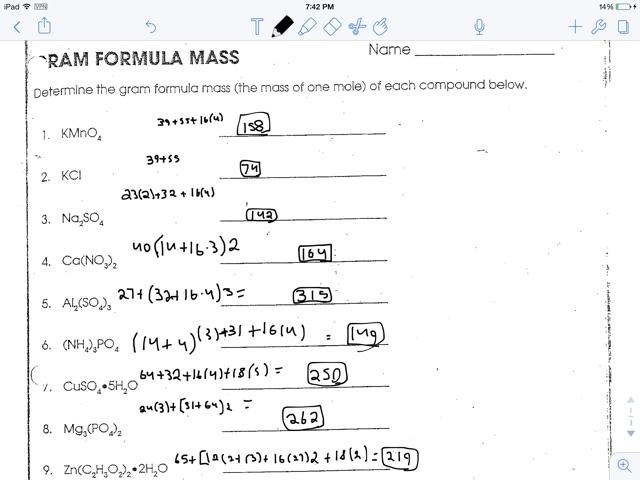 Printables Gram Formula Mass Worksheet gram formula mass worksheet fireyourmentor free printable worksheets youngwillturner mass