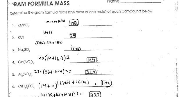 Moles And Mass Worksheet Chemistry If8766 - Livinghealthybulletin