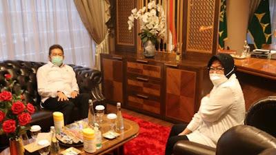 Menteri Sosial RI Tri Rismaharini Bertemu Jaksa Agung Dr. Burhanuddin Guna Meminta Pendampingan Seluruh Proses Yang Ada Di Kementerian Sosial RI
